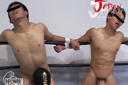 筋肉コリコリぷりケツの体育会先輩後輩がプロレス!からの射精はエロ過ぎ!