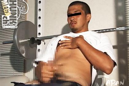 重量級で精悍な男前のノンケ体育会、フェラと乳首責めに感じちゃってメロメロ!