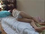 早乙女ルイ 下着姿で寝ているカノジョに欲情して寝SEXで即ハメ