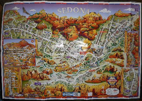 セドナの地図