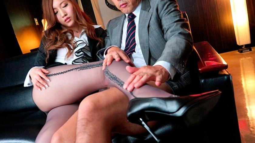 パンスト極痴女秘書の華麗なるマラ遊び 舞島あかりの脚フェチDVD画像1