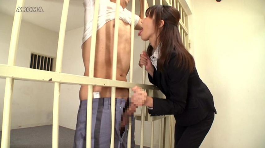 留置場で性欲を処理する7つの方法の脚フェチDVD画像3
