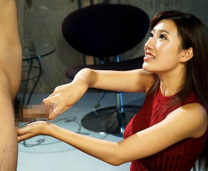 エロい手コキ技の淫語痴女が網タイツ美脚で足コキ抜きの脚フェチDVD画像1