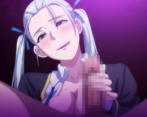 淫乱になった女子生徒が教師の肉棒を生足で責める足コキアニメの脚フェチDVD画像5