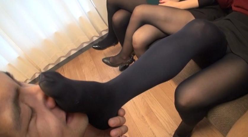 現役女子大生 授業後~黒タイツ&黒スト臭脚責めレポート!!の脚フェチDVD画像2