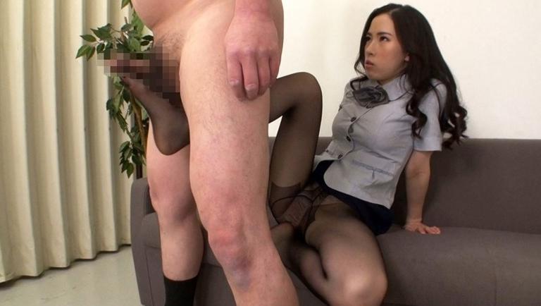M男と淫語オフィスレディー 二宮和香の脚フェチDVD画像3