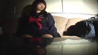 【円光動画】 制服美少女にスクール水着を着させてハメ撮りするロリマニア映像