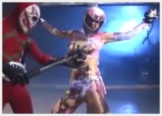 【ゴレンジャーのエロパロディー】 鍛えられた肉体!! ピンクレンジャーが拘束・レ〇プされる動画