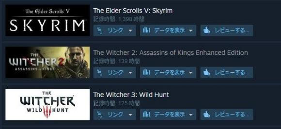 steam ゲームプレイ時間