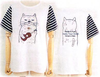 ウクレレねこ ゆったりTシャツ