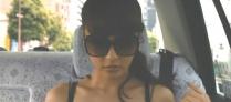 タクシーの中で着替えた理沙