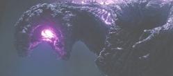 ゴジラの口から光が・・