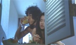 オレンジジュースを飲みながら京子とセックス