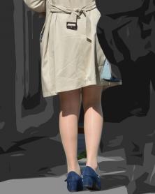 光沢ナチュストのむっちり美脚