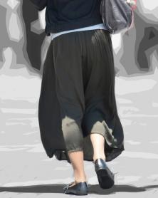 セクシーなロングスカート