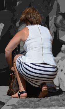 [通常記事]豊満むっちりデカ尻タイトスカートの透P