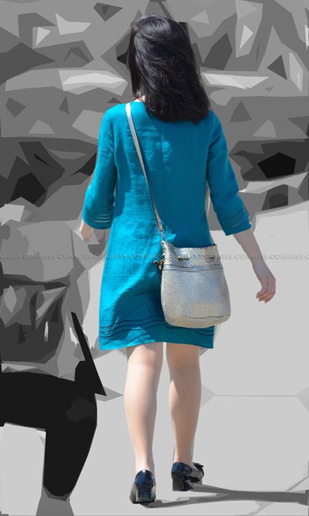 ■ ■vol290-色気を放つ美脚のベージュストッキング