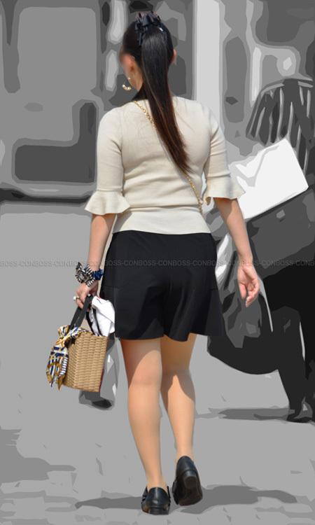 vol300-むっちり女性らしい美脚に履いたベージュストッキング