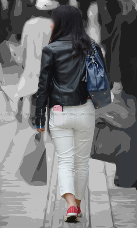 ■ ■vol289-尻肉が露になるぴったりホワイトパンツ