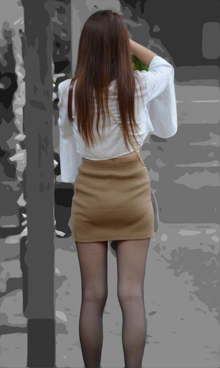 ■ ■vol288-黒タイツの美脚と魅力的なタイトミニくっきり食い込みPライン