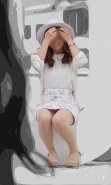 【通常記事】清楚な花柄ミニスカート