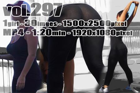 ■ ■vol297-レギンスを履いた突出す豊満ヒップから大胆透T(画像&動画)