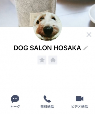 「DOG SALON HOSAKA」公式LINEアカウント