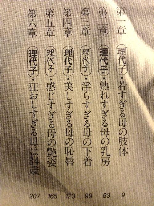 理代子と高校生・相姦の血淫_目次