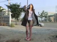 【江露天風呂の女】韓国美女は野外露出がお好きwww