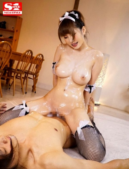 AV女優 葵 『常に全身ローションだっくだくのご奉仕ぬるぬる爆乳ランジェリーメイド』