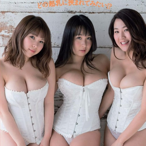 うさまりあ 結城ちか 桐山瑠衣 全員B100cm超!