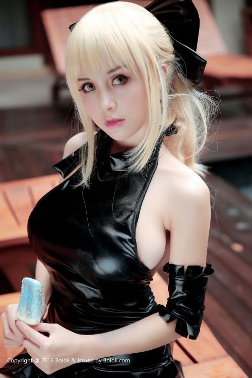 Xia Mei Jiang Fate/hollow ataraxia セイバーオルタ 水着Ver. コスプレ 11