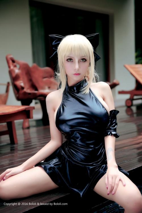 Xia Mei Jiang Fate/hollow ataraxia セイバーオルタ 水着Ver. コスプレ 17