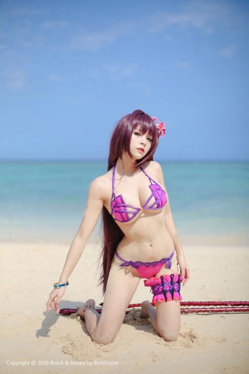 Xia Mei Jiang  FateGO 水着スカサハ コスプレ 04