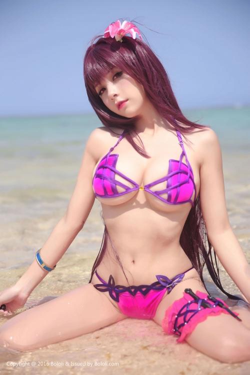 Xia Mei Jiang  FateGO 水着スカサハ コスプレ 09
