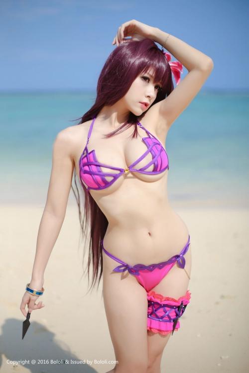 Xia Mei Jiang  FateGO 水着スカサハ コスプレ 12