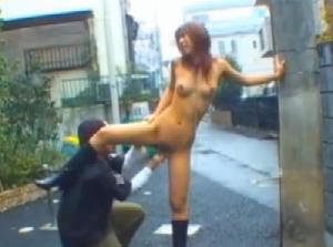 全裸で連れまわし放 尿・バイブ調教www