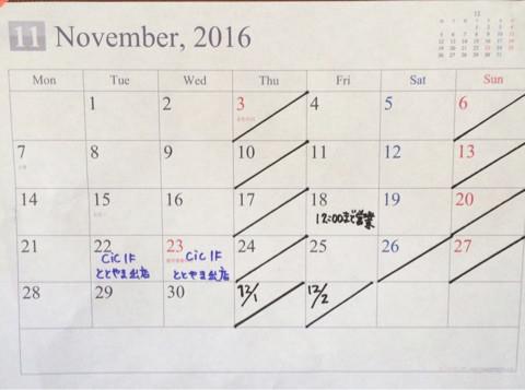 11月予定