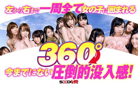 【VR】どこを向いても裸の美女だらけ!AV史上初!360°3D映像!極上美女14人に囲まれ前後左右全てから責められる超高刺激!今まで体験したことのない究極ハーレムSEX! 2