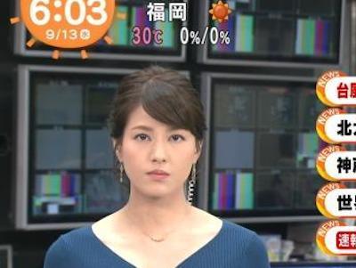【エンタメ画像】【画像】めざましテレビ永島優美アナのニットお●ぱいがデケえええええええええええええ