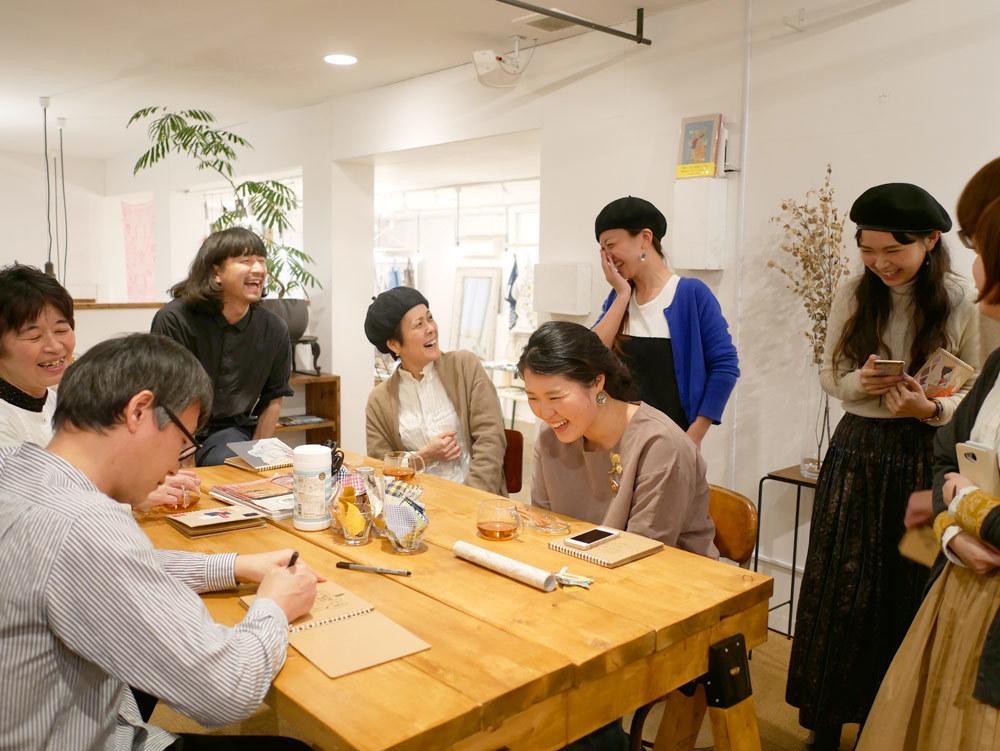 イラストレーター福田利之さんワークショップ2017年2月Gouache(ガッシュ)福岡