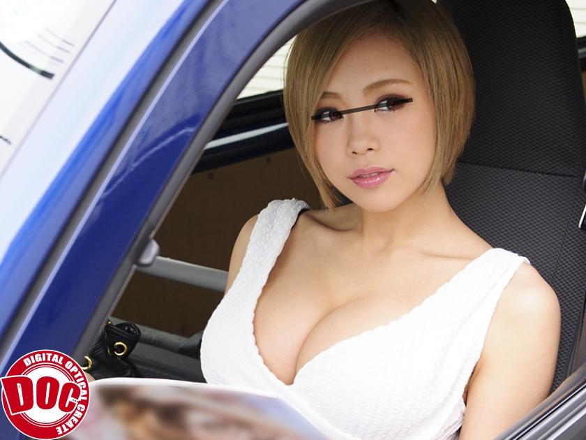 ガン見不可避www車の運転中に隣の車に胸元丸見えな巨乳女が止まったから写真撮ってしまったったwwwww
