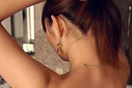 女性の美しいうなじのエロ画像