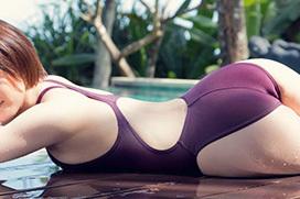 競技用なのにエロい…競泳水着エロ画像