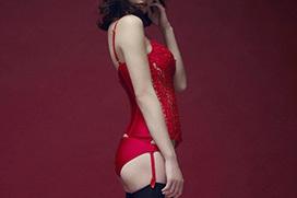 ガーターベルトが似合うセクシーな美女のエロ画像