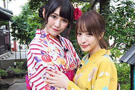桃乃木かなの街歩き番組「桃さんぽ」に橋本ありながゲスト出演!2人の浴衣美女見逃せねええええ!
