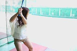 【画像あり】AV女優白石茉莉奈さんの打撃フォームwwwwwwwwww