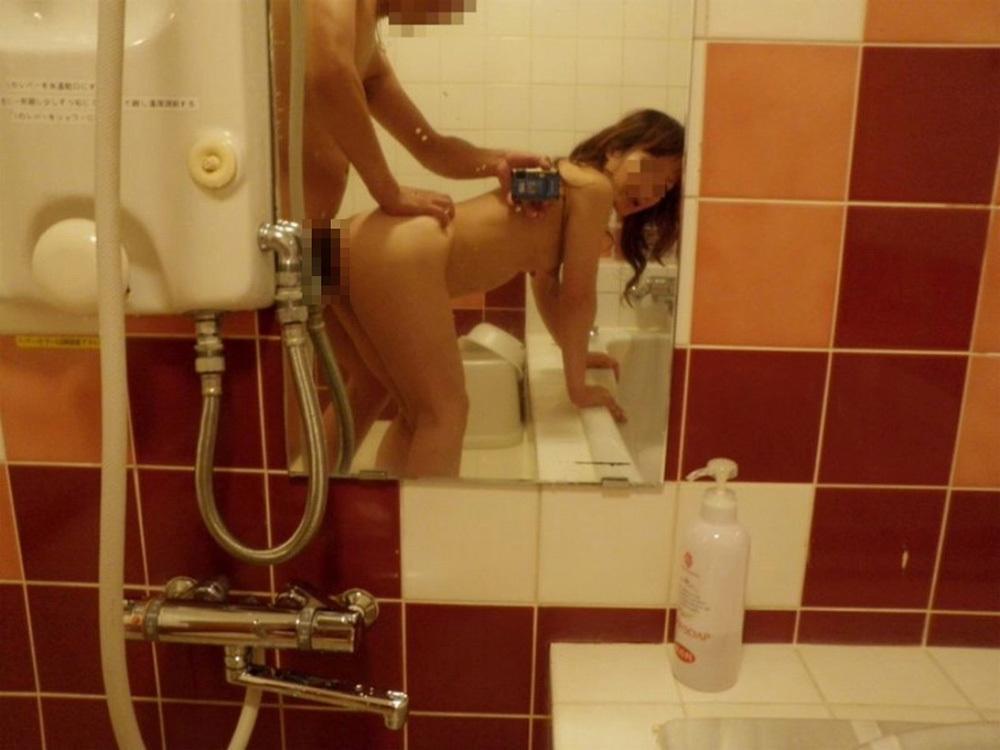 鏡越しセックス 画像 11