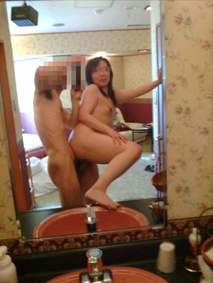 鏡越しセックス 画像 31