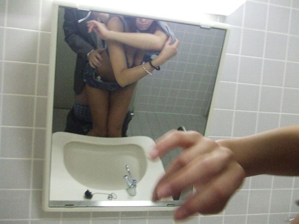 鏡越しセックス 画像 37